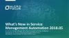 What's New in Service Management Automation 2018.05