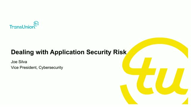 How a Cybersecurity Executive Deals with Application Risk