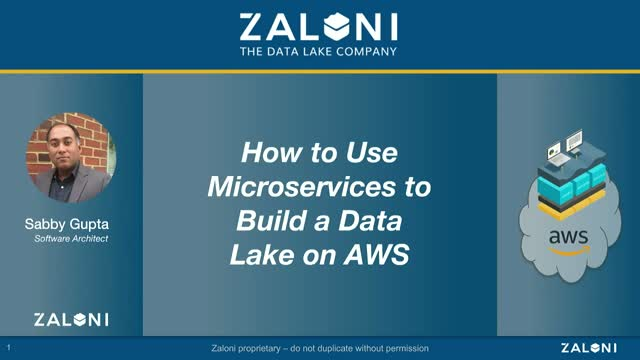 How to Use Microservices to Build a Data Lake on AWS