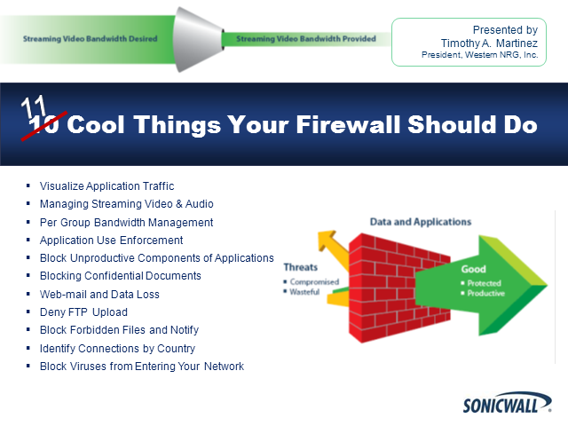 11 Cool Things Your Firewall Should Do