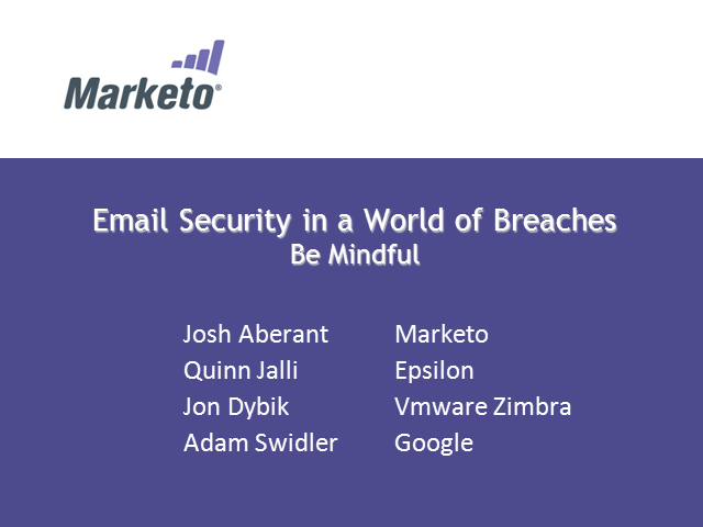 Email Security in A World of Breaches