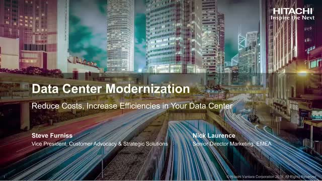 Live for EMEA: Reduce Costs, Increase Efficiencies in Your Data Center