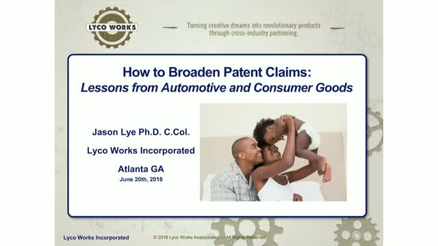 How to broaden patent claims: Lessons from automotive and consumer goods