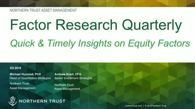 Factor Research Quarterly: The Return of Volatility