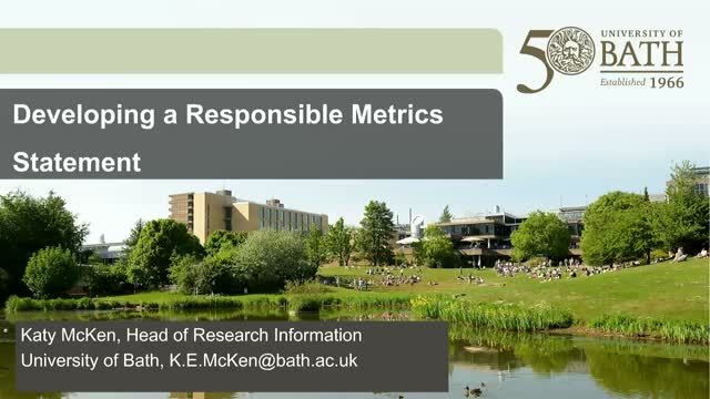 Make a statement and use metrics responsibly!