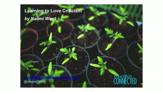 Learning to Love Criticism