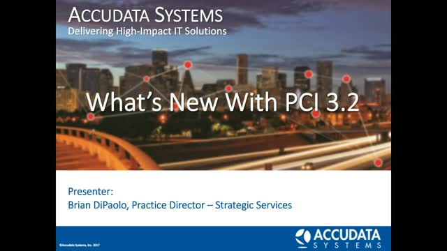 What's New with PCI 3.2