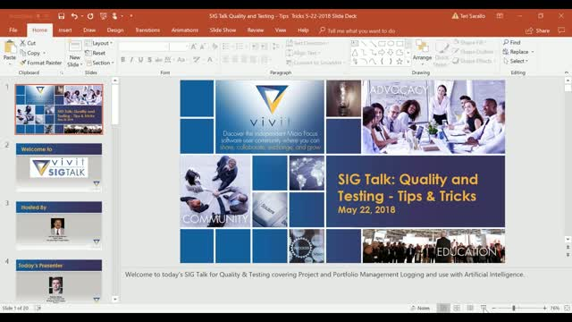 Quality and Testing SIG Talk Series - Tips & Tricks [Complete Edition]