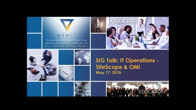 IT Operations SIG Talk Series: SiteScope & OMi [Complete Edition]