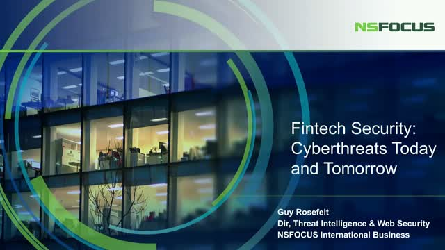 FinTech Security: Cyberthreats Today and Tomorrow
