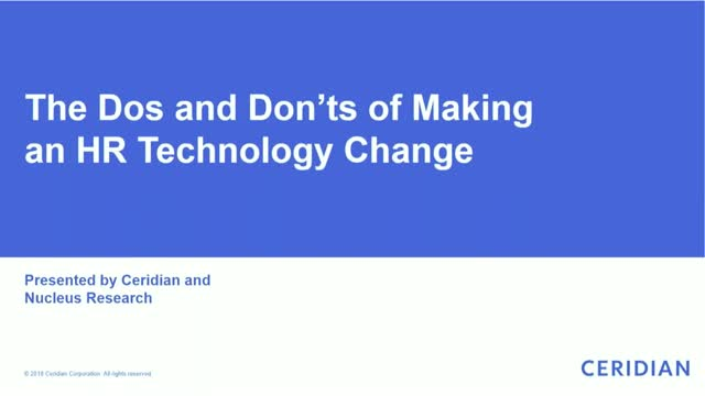 The Dos and Don'ts of Making an HR Technology Change