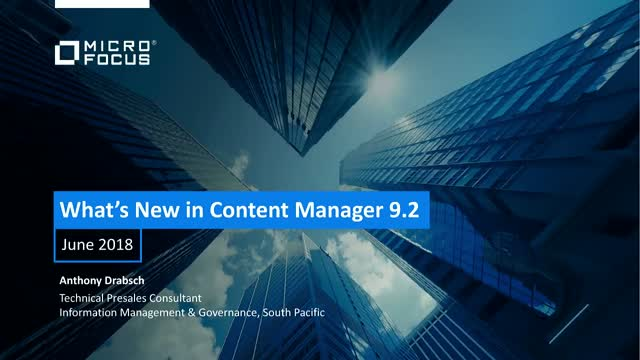 What's New in Content Manager 9.2