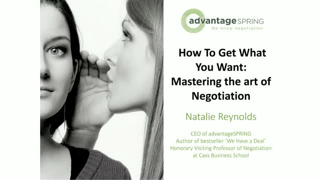 How To Get What You Want: Mastering the art of negotiation