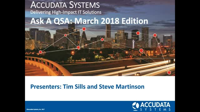 PCI Ask a QSA March 2018 Edition