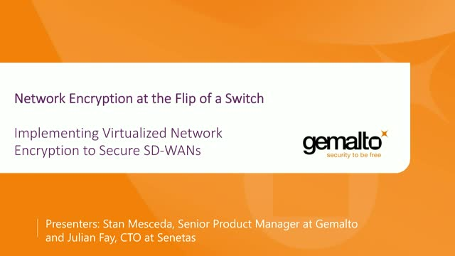 Implementing Virtualized Network Encryption to Secure SD-WANs