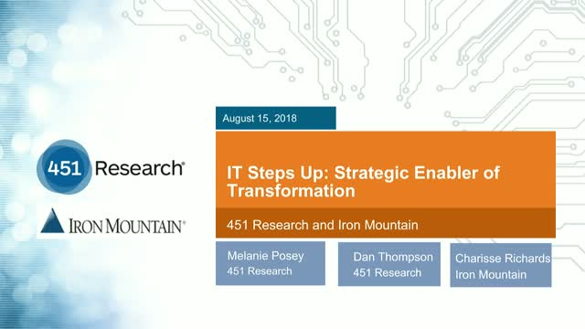 IT Steps Up: Strategic Enabler of Transformation