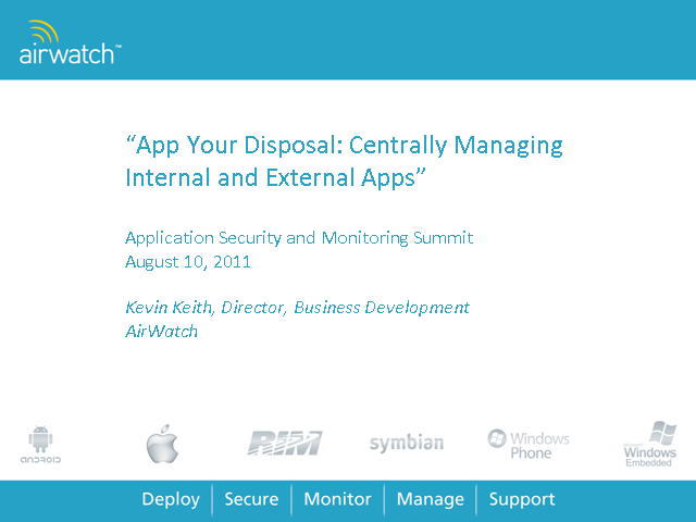 App Your Disposal: Centrally Managing Internal & External Apps