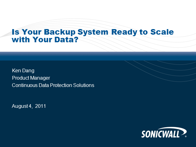 Is Your BackUp System Ready To Scale With Your Data?
