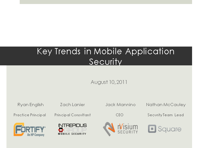 Key Trends in Mobile Application Security