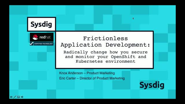 Frictionless Application Development:Radically Change How You Secure and Monitor