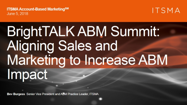Aligning Sales and Marketing to Increase ABM Impact