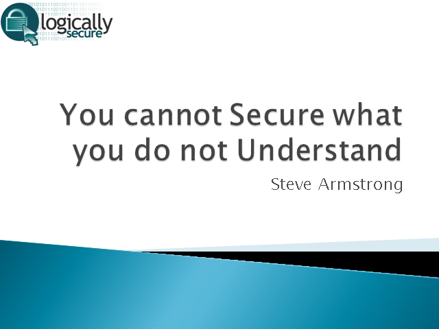 Applications: You Cannot Secure What You Do Not Understand