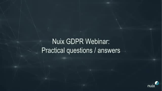 GDPR - Let's talk legal, the implications of GDPR and your data