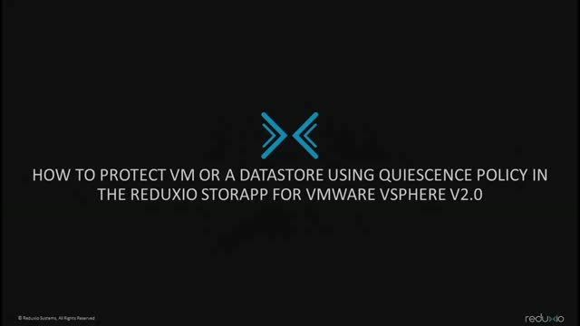 How to protect VMs or Datastores