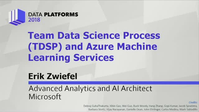 Team Data Science Process (TDSP) and Azure Machine Learning