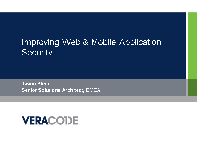 Improving Web & Mobile Application Security
