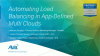 Automating Load Balancing in App Defined Multi-Cloud