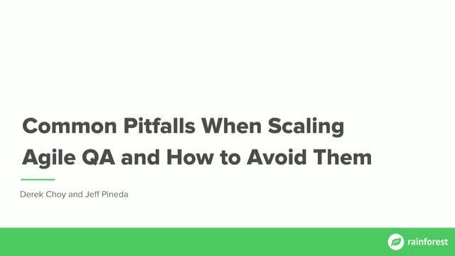 Common Pitfalls When Scaling Agile QA and How to Avoid Them