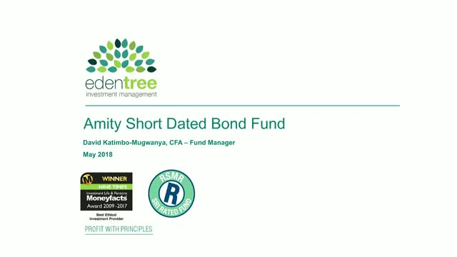 EdenTree Amity Short Dated Bond Fund Update