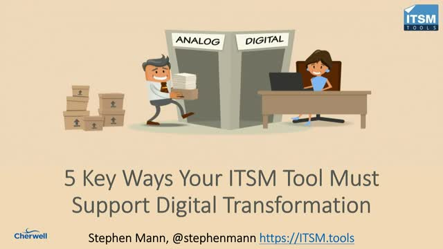 5 Ways Your ITSM Tool Must Support Digital Transformation