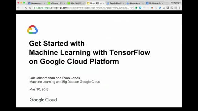 Get Started with Machine Learning with TensorFlow on Google Cloud Platform