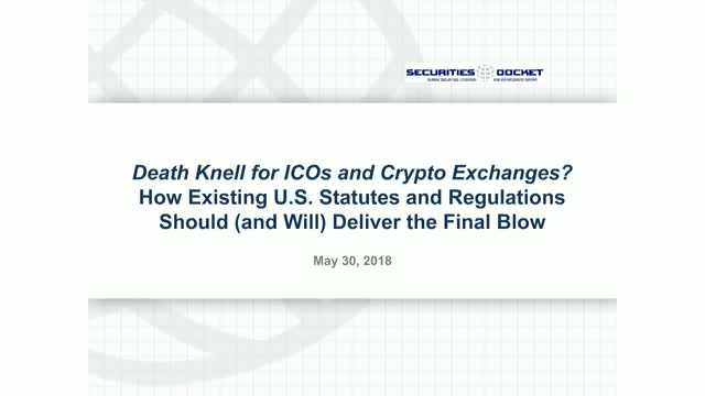 The Death Knell for ICOs and Crypto Exchanges?