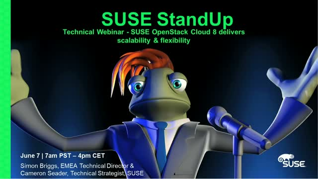 Technical Webinar - SUSE OpenStack Cloud 8 delivers scalability & flexibility