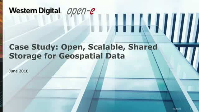 Case Study: Open, Scalable, Shared Storage for Geospatial Data