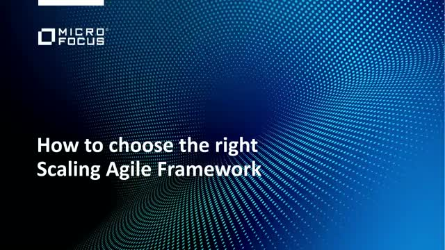 How to choose the right Scaled Agile Framework
