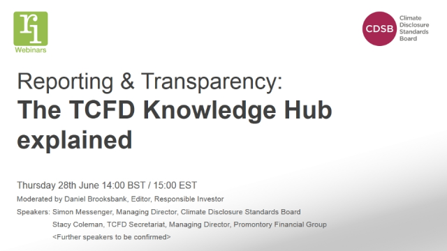Reporting & Transparency: The TCFD Knowledge Hub explained