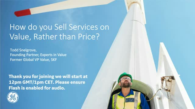 How do you sell services on value rather than price?