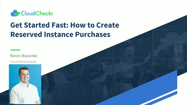 Live Demo: How to Create Reserved Instance Purchases