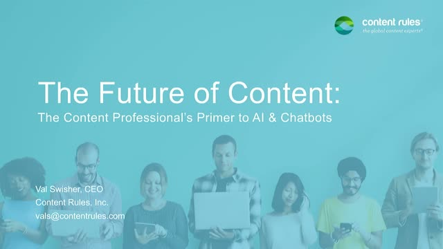 The Future of Content: The Content Professional's Primer to AI & Chatbots