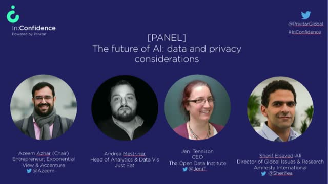[Video panel] The future of AI: Data and privacy considerations