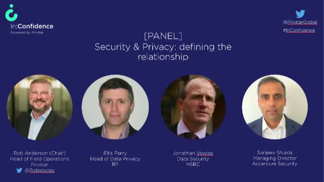[Video panel] Security and Privacy: Defining the relationship