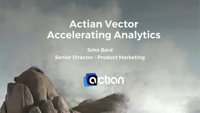 Actian Vector Accelerating Analytics
