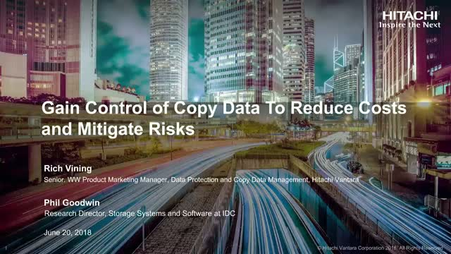 Gain Control of Copy Data To Reduce Costs and Mitigate Risks