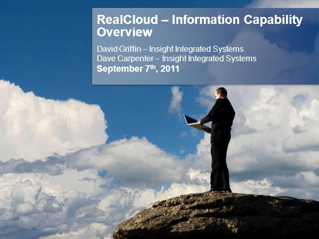 RealCloud Capability #3 - Information