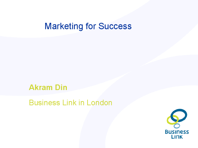 Marketing for Success (what small businesses need from marketing)