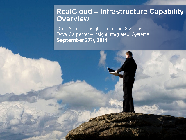 RealCloud Capability #6 - Infrastructure